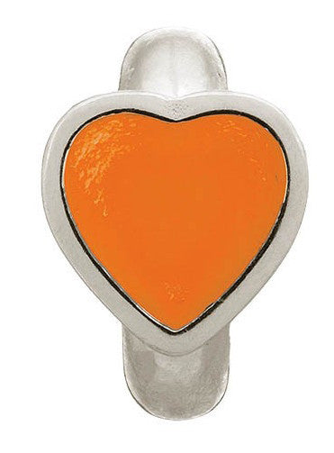 Endless Jewellery Charm Enamel Heart Coral Silver