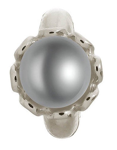 Endless Jewellery Charm Grey Pearl Flower Silver