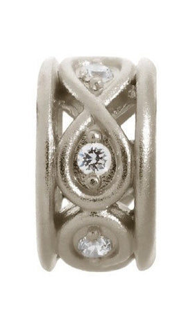 Endless Jewellery Charm Sparkling Eternity White Silver