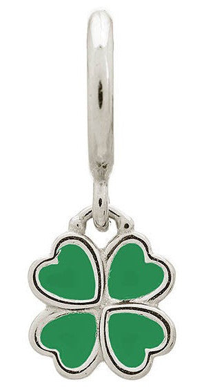 Endless Jewellery Charm Clover Green Silver