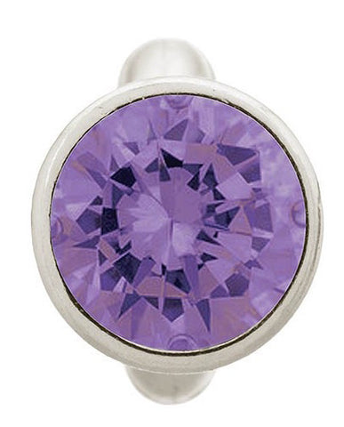 Endless Jewellery Charm Round Dome Amethyst Silver