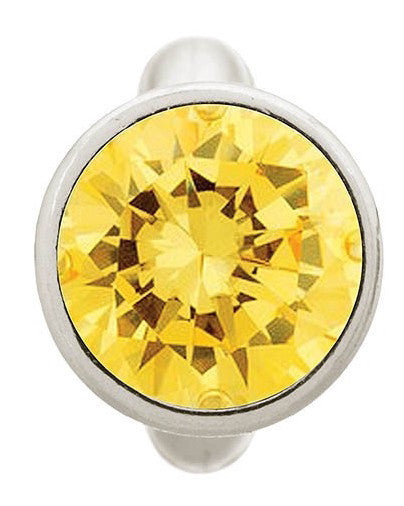 Endless Jewellery Charm Round Dome Citrine Silver