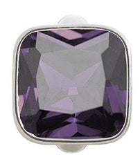 Endless Jewellery Sterling Silver Purple Crystal Charm D