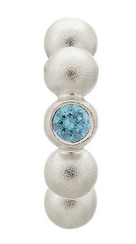 Endless Jewellery Charm Flashy Dot Sky Blue Silver
