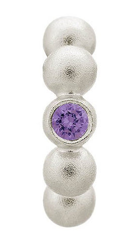 Endless Jewellery Charm Flashy Dot Amethyst Silver