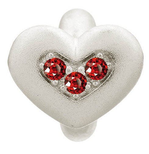 Endless Jewellery Charm Triple Love Garnet Silver