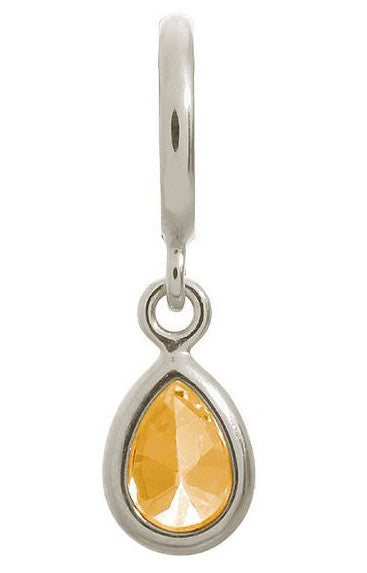 Endless Jewellery Charm Drop Citrine Silver