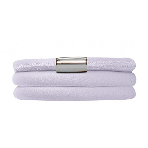 Endless Jewellery Bracelet Leather Triple Lavender 60cm