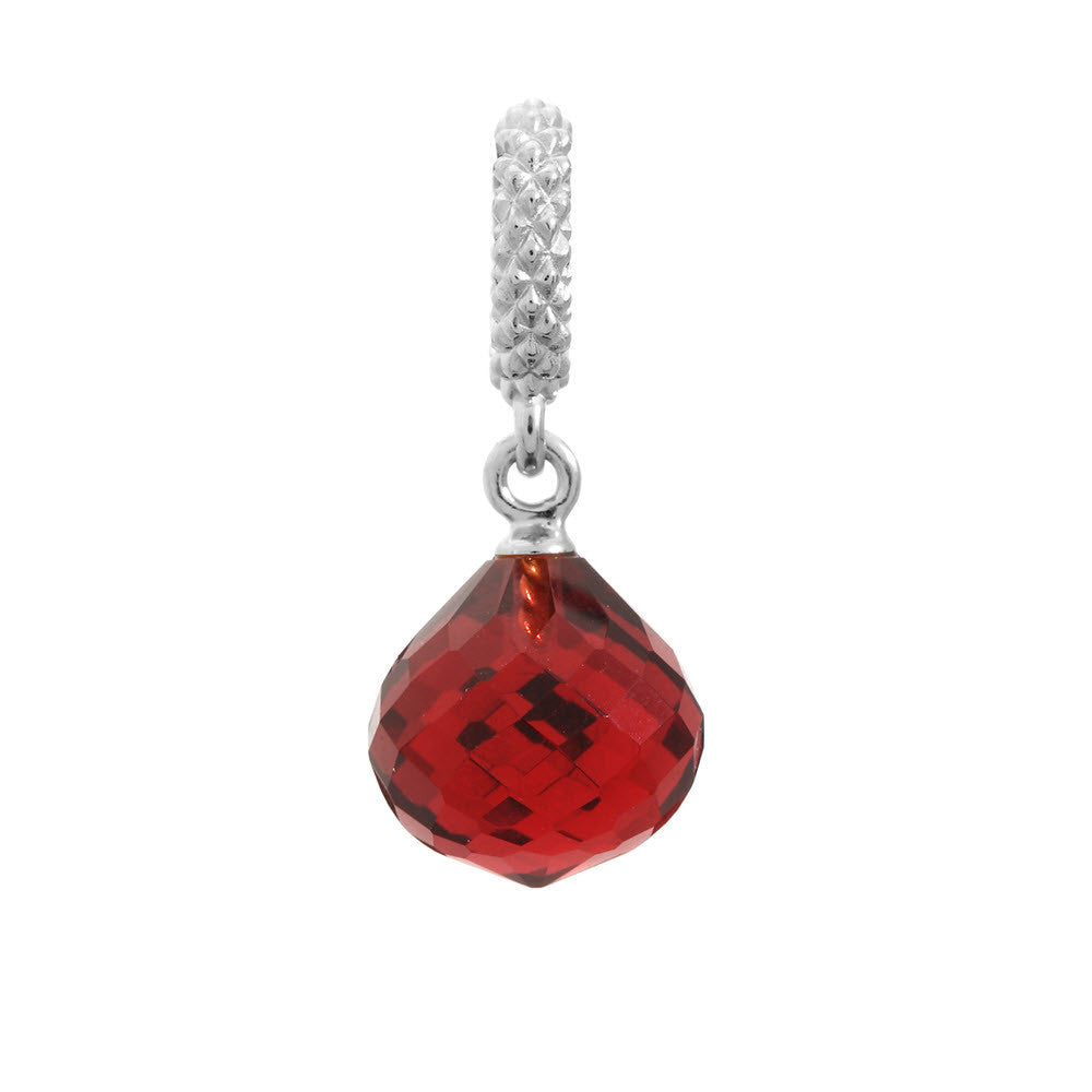 Endless Jewellery Charm Ruby Mysterious Drop Silver