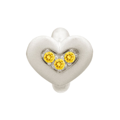 Endless Jewellery Charm Citrine Triple Love Silver
