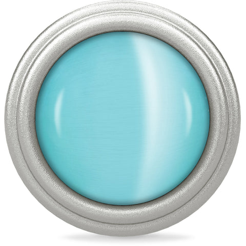 Endless Jewellery Charm Aqua Blue Love Dome Silver
