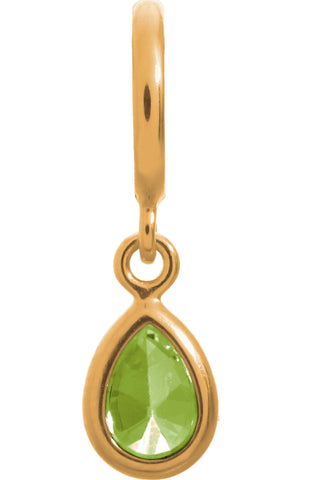 Endless Jewellery Charm Peridot Drop Gold