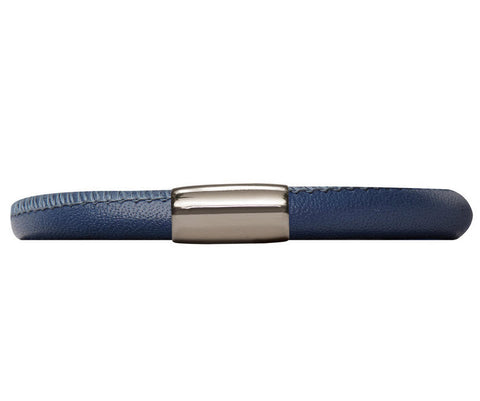 Endless Jewellery Bracelet Leather Single Blue 19cm