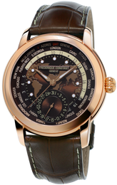 Frederique Constant Watch Classic Worldtimer Manufacture FC-718BRWM4H4