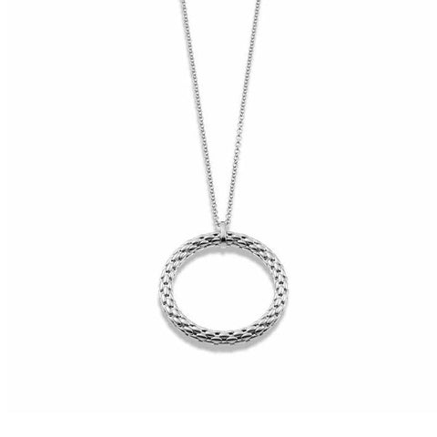 Fope Necklace Lovely Daisy 18ct White Gold