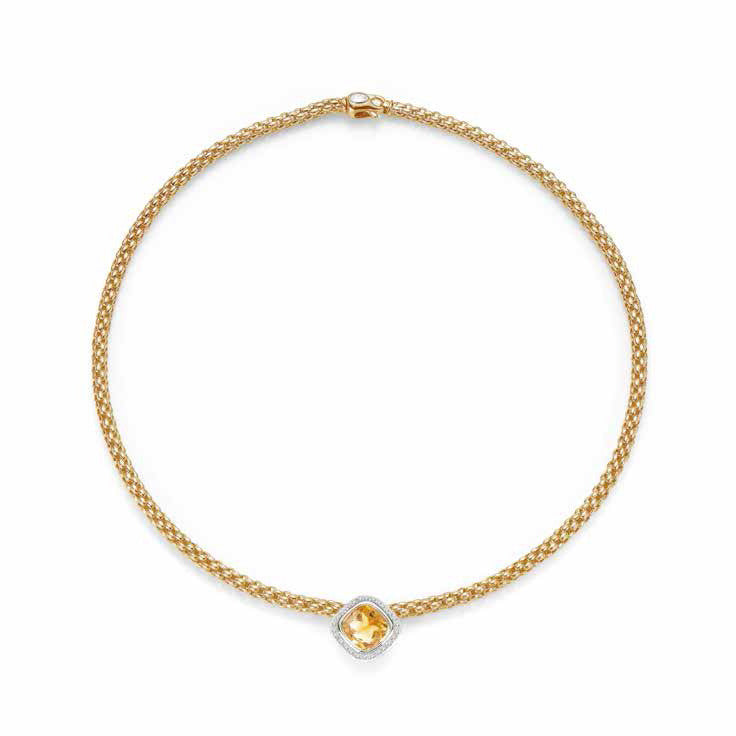 Fope FLEX'IT SOLO Necklaces Citrine Diamond 18ct Yellow Gold