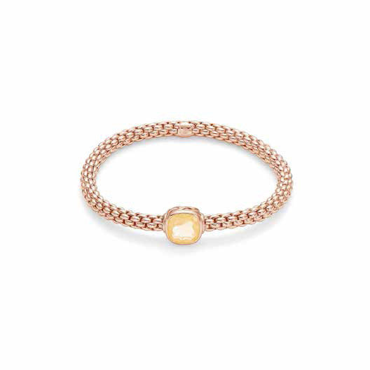 Fope FLEX'IT SOLO Bracelet Citrine 18ct Rose Gold Medium
