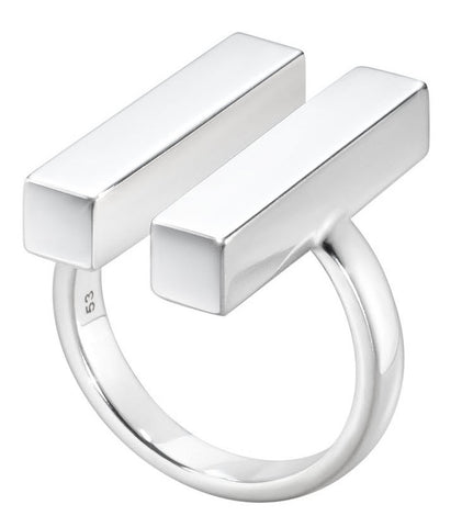 Georg Jensen Ring Aria Two Bar Silver