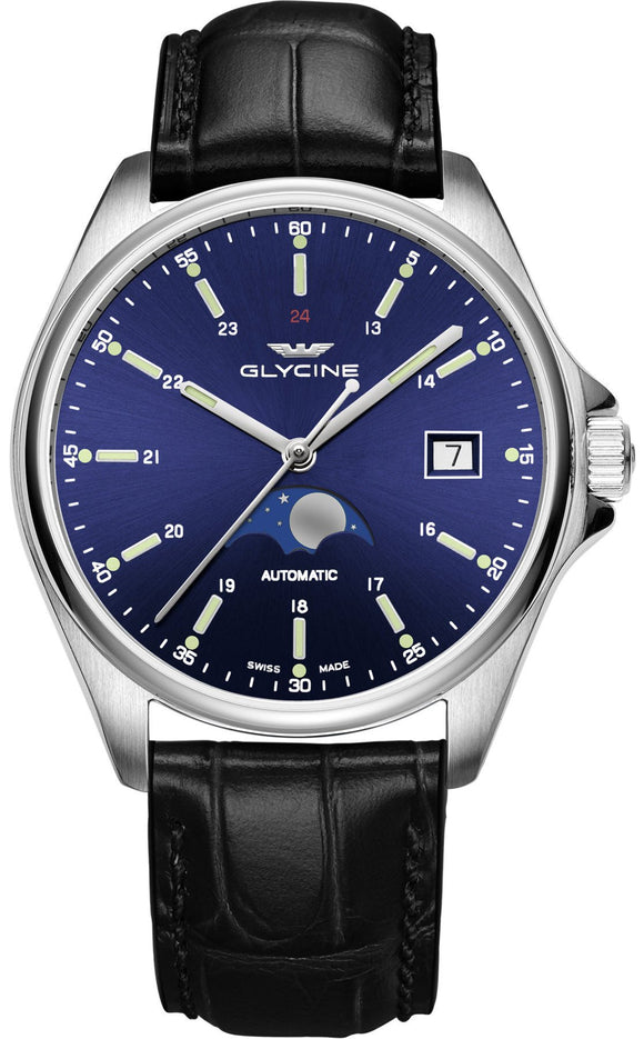 Glycine Watch Combat Classic Moonphase GL0113