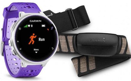 Garmin Watch Forerunner 230 Premium Soft Strap HRM Purple White 010-03717-47