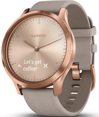 Garmin Watch Vivomove HR Rose Gold with Grey Suede Band