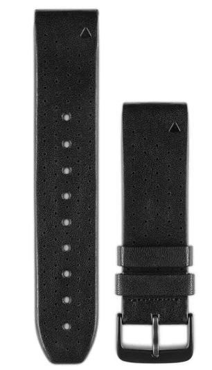 Garmin Watch Bands QuickFit 22 Black Perforated Leather 010-12500-02