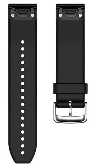 Garmin Watch Bands QuickFit 22 Black Silver Silicone