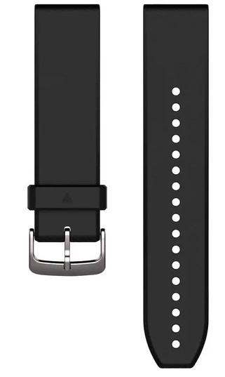 Garmin Watch Bands QuickFit 22 Black Silver Silicone 010-12500-00