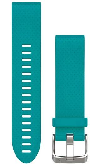 Garmin Watch Bands QuickFit 20 Turquoise Silicone 010-12491-11