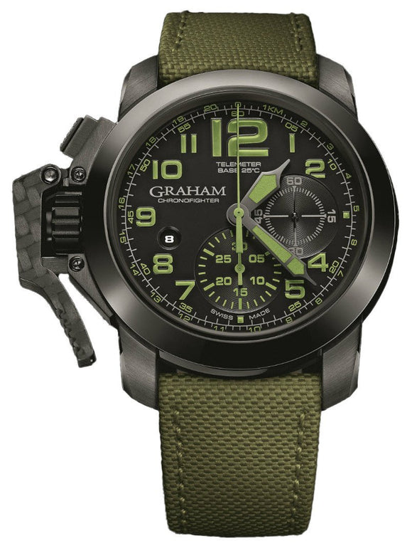 Graham Watch Chronofighter Oversize Ceramic Celcius Bezel Green S 2CCAU.G01A.T15N