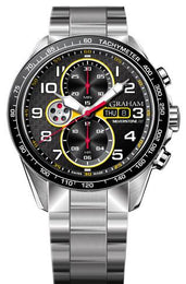 Graham Watch Silverstone Racing Red Yellow Bracelet 2STEA.B15A.A26F