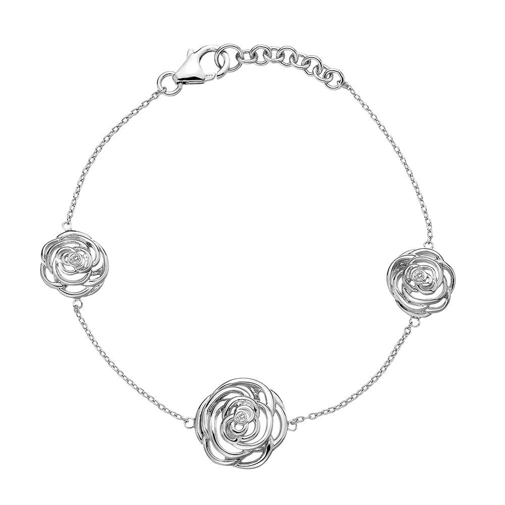 Hot Diamonds Bracelet Trio Eternal Rose Silver