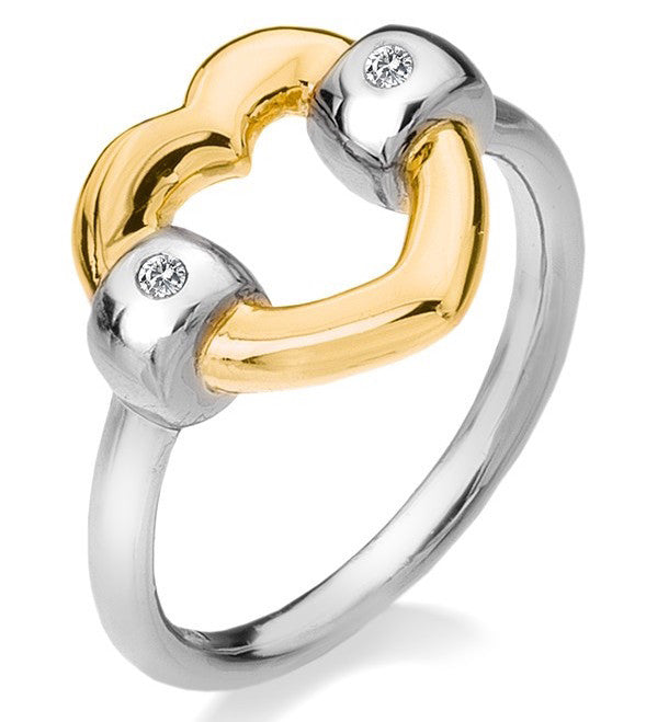Hot Diamonds Ring Just Add Love Bonded Heart Yellow Gold