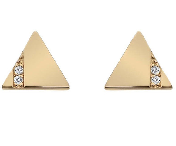 Hot Diamonds Earrings Silhouette Triangle Rose Gold DE448