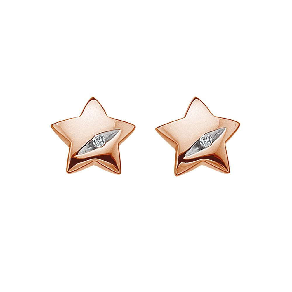 Hot Diamonds Earrings Shooting Stars Rose Gold