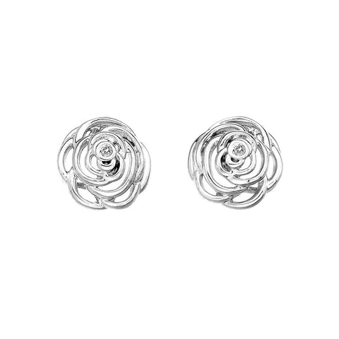 Hot Diamonds Earrings Eternal Rose Silver