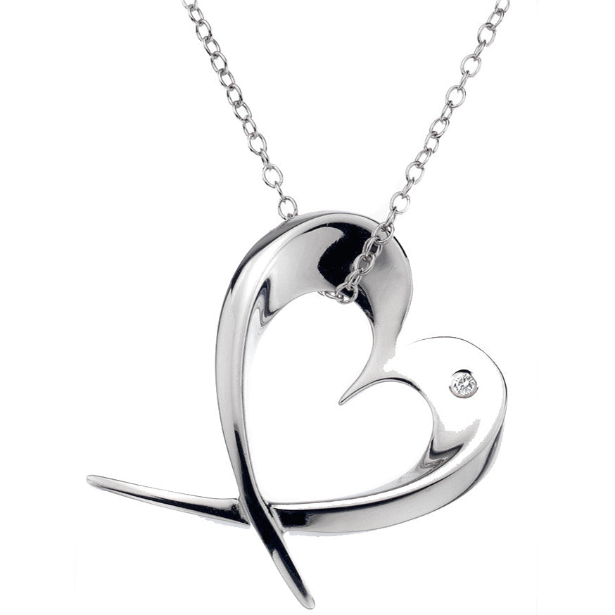 Hot Diamonds Necklaces Entwine Large Heart