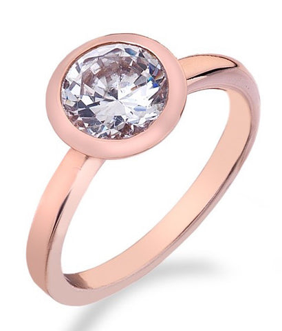 Hot Diamonds Ring Riflessi Rose Gold