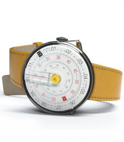 Klokers Watch KLOK-01-D1 Yellow Simple