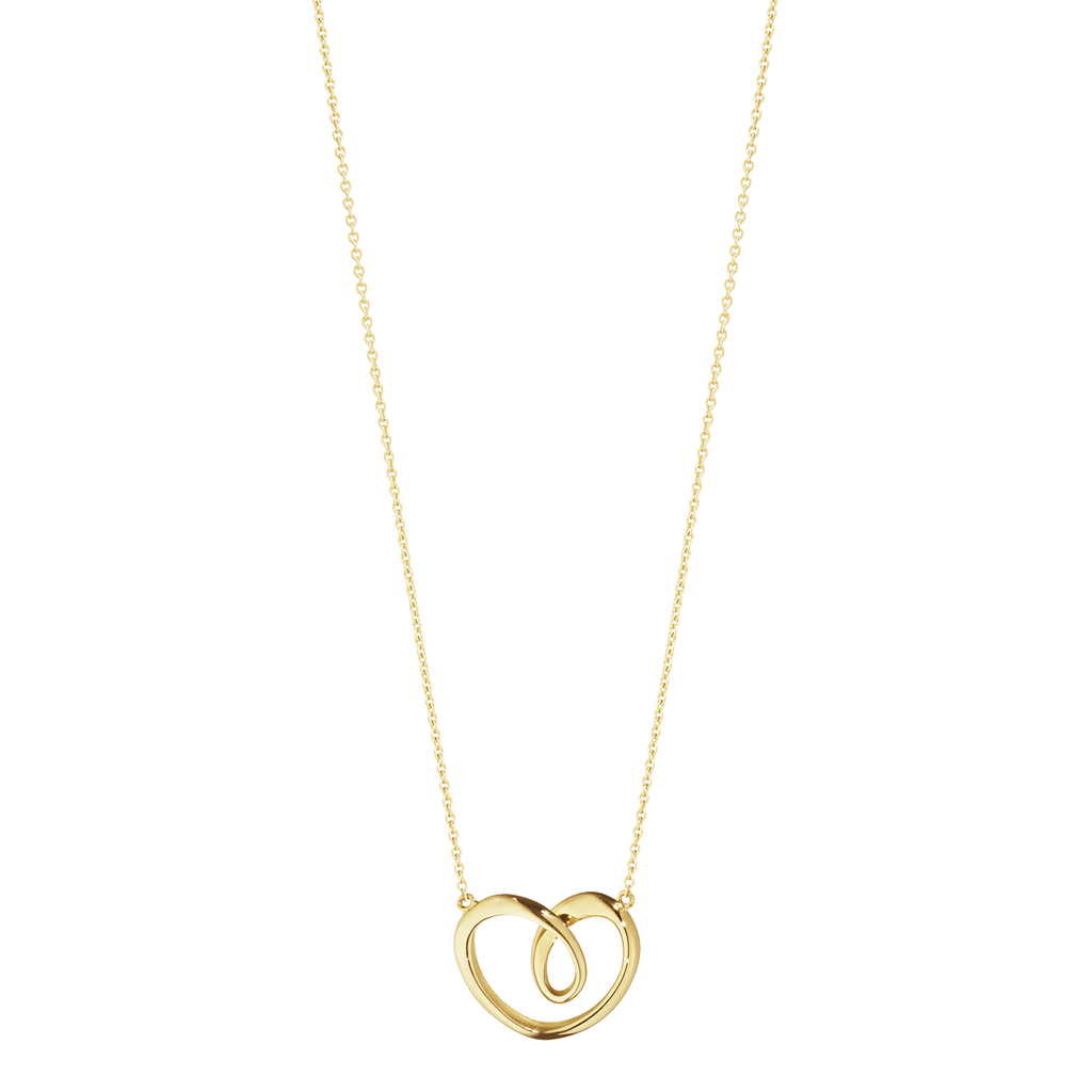 Georg Jensen Necklace Hearts 18ct Yellow Gold Large