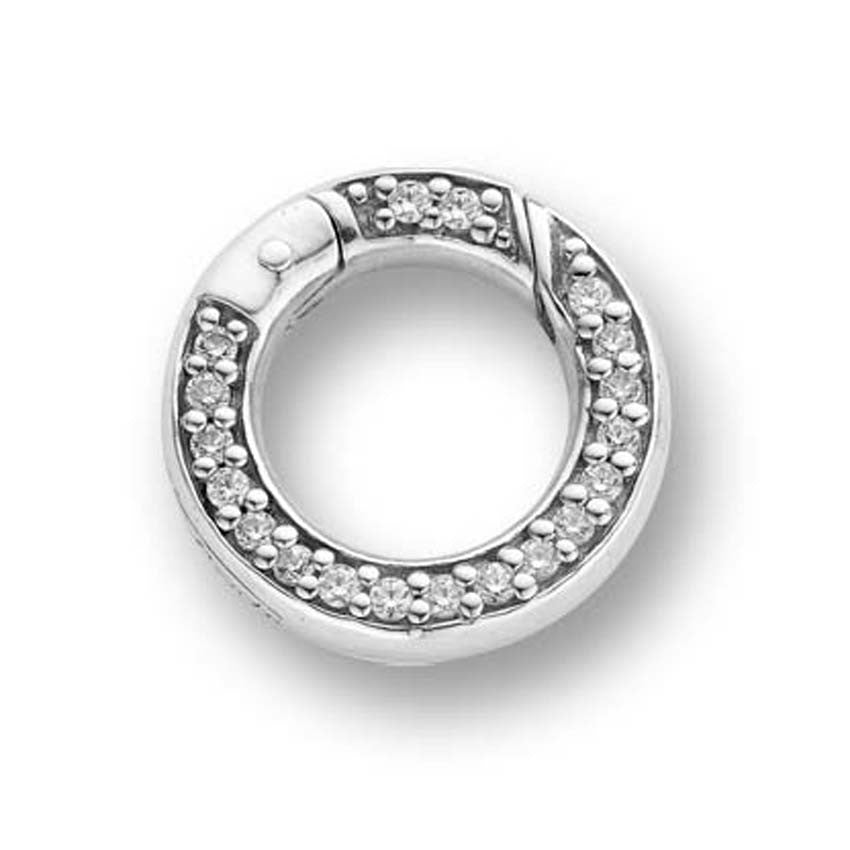 Ti Sento Ring Silver And White Cubic Zirconia Clip