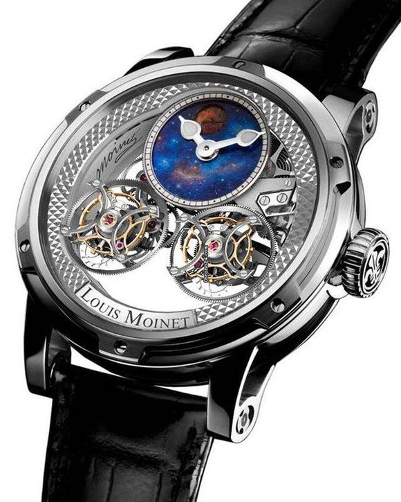 Louis Moinet Watch Sideralis Evo White Gold LM-52.70.20