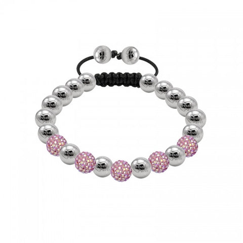Tresor Paris Bracelet 8mm Blush Pink Crystal