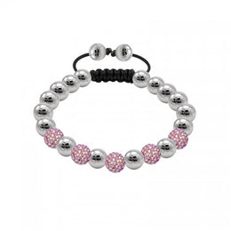 Tresor Paris Bracelet 8mm Blush Pink Crystal 019354