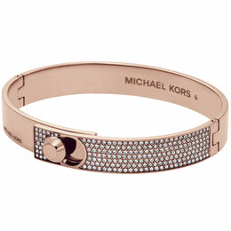 Michael Kors Heritage Rose Gold Pave Bangle MKJ4904