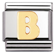 Nomination Charm Composable Classic Letter B Steel 030101 02
