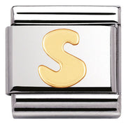 Nomination Charm Composable Classic Letter S Steel 030101 19