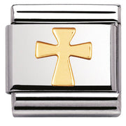 Nomination Charm Composable Classic Religious Cross Steel 030105 01
