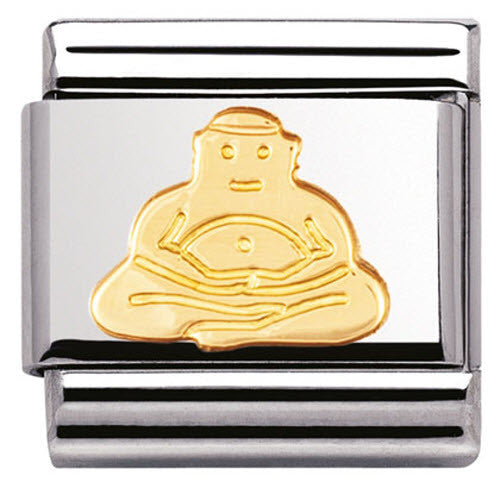 Nomination Charm Composable Classic Religious Buddha Steel 030105 06