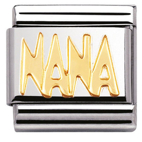 Nomination Charm Composable Classic Writing Nana Steel